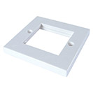 AV Single Faceplate - 2 Module 86 x 86mm Flat Edge - White
