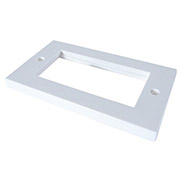AV Double Faceplate - Flat edge