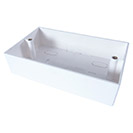 AV Double Back Box - 4 Module 45mm Deep - White
