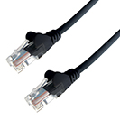 15m RJ45 CAT5e UTP Stranded Flush Moulded Network Cable - 24AWG - Black