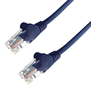 2m RJ45 CAT5e UTP Stranded Flush Moulded Network Cable - 24AWG - Blue