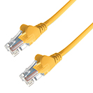10m RJ45 CAT6 UTP Stranded Flush Moulded LS0H Network Cable - 24AWG - Yellow