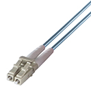 One LC male fibre connector