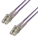 5m Duplex Fibre Optic Multi-Mode Cable OM4 50/125 Micron LC to LC Purple