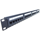 24 Port Patch Panel (Cat6) IDC Punch Down 19 inch + Lacing Bar