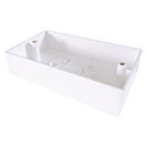 Double Gang Back Box Surface Mount 32mm Deep - White